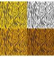 wild animal skin seamless pattern set vector image