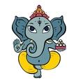 Hindu God Ganesha vector image vector image