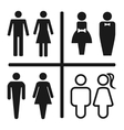 Restroom icon set isolated on white vector image vector image