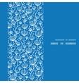 blue white lineart plants vertical frame seamless vector image
