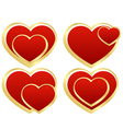 set of stylized hearts vector image vector image