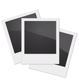 Set Retro Photo Frame Polaroid On White vector image vector image