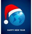 world christmas ball background vector image vector image