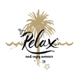 Relax and enjoy summer vector image vector image