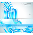 Abstract Glowing Waves vector image vector image