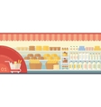 Banner supermarket with food vector image
