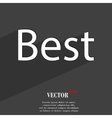 Best seller icon symbol Flat modern web design vector image
