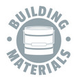 building material logo simple gray style vector image