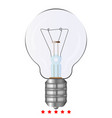 bulb icon different color vector image