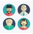 flat design men icons vector image