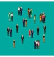 flat of society members with men and women vector image