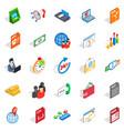 lawyer icons set isometric style vector image