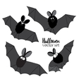 Set of ridiculous animation bats An vector image