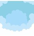 sky and clouds background vector image