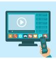 smart tv concept vector image