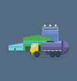 waste collection and transportation cleaning city vector image