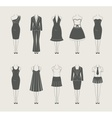 female clothes set icon vector image vector image