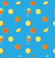 orange with peel glass of juice and orange slice vector image