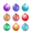 toys and decorations for the christmas tree vector image