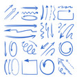 different doodle arrows set pictures vector image