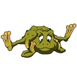 Thinking Frog vector image vector image