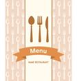 menu banner vector image