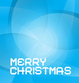 Abstract Blue Merry Christmas Background vector image vector image