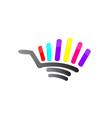 Abstract Shopping Cart Logo vector image