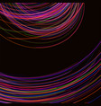 amazing linear thread abstract black vector image