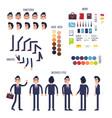 businessman character generator flat vector image
