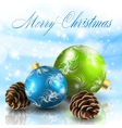 christmas balls with cones vector image