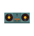 double turntable disc jockey graphic vector image