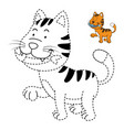 educational game for kids and coloring book-cat vector image