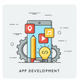 mobile application development flat vector image