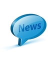 News glossy bubble vector image
