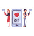 online dating chat vector image