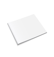 White Empty Brochure vector image