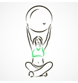 Yoga with fitball vector image