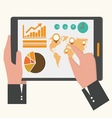 business tablet vector image vector image