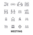 meeting conference business room presentation vector image