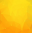 Orange triangle background vector image vector image
