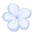 A five-petal flower vector image vector image