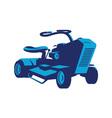 vintage ride on lawn mower retro vector image vector image