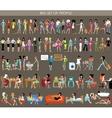 Big set of people vector image vector image