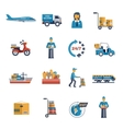 Delivery Icons Flat Set vector image vector image