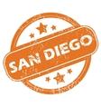 San Diego round stamp vector image