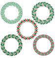 christmas wreath frames vector image