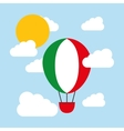 Hot air balloon and flag icon Italy culture vector image