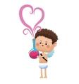 cute cupid valentine day elixir love vector image