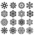 Flat snowflakes icons on a white background vector image